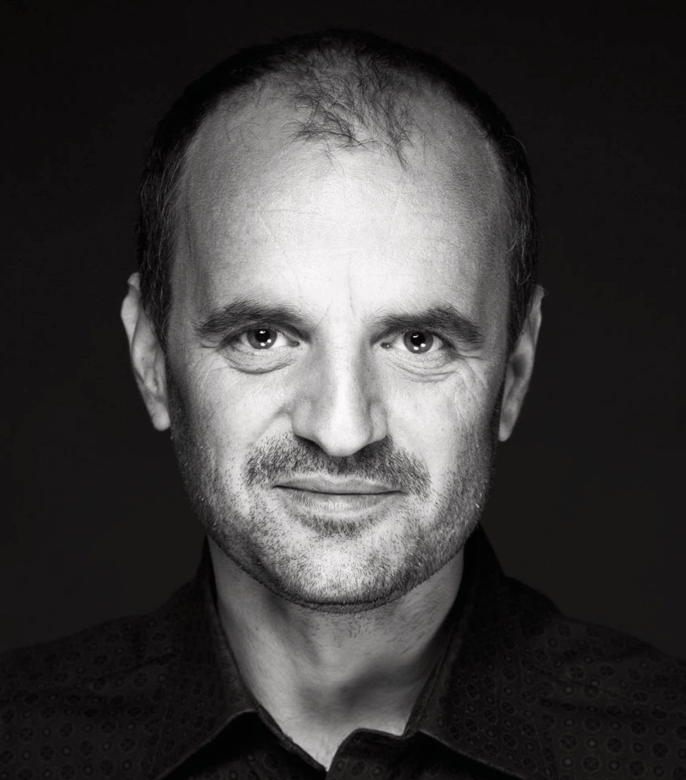 Black and white portrait of actor new thriller Exhibit #8